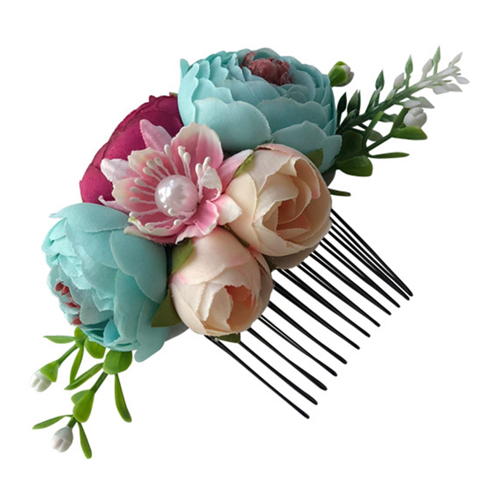 Children/'s Gift Girls Hair Clip Flower Hair Comb Baby Pearl Hairpin Leaves