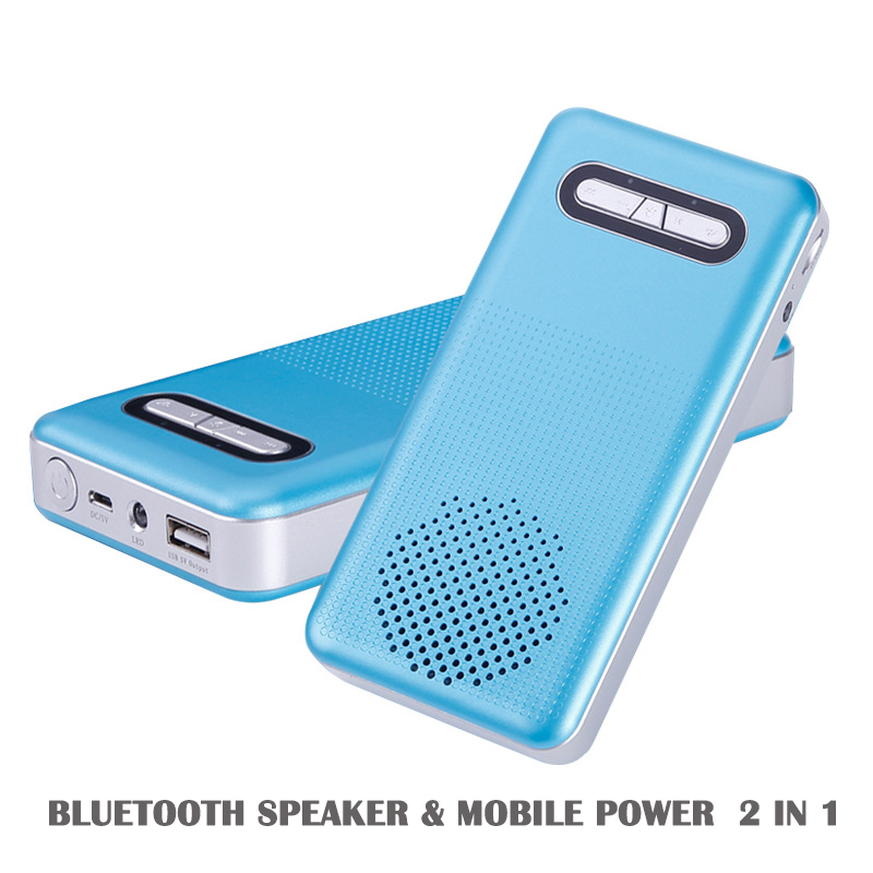 Sport Outdoor Bluetooth Speaker Mini Portable Speaker Bluetooth Speaker Power Bank 2 in 1 with Built in Mic With  LED
