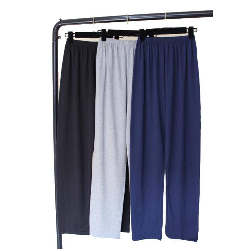 Cotton Pyjamas Mens Sleepwear Casual Men's Sleep Long Underwear Comfortable Male Loose Sleep Bottoms Wholesale Lounge Trousers