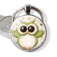 Модная бижутерия в виде совы цепочка для ключей с большими глазами