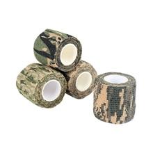 Новинка! 1 рулон мужской армейской клейкой камуфляжной ленты для охоты на открытом воздухе