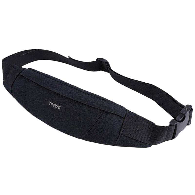 TINYAT Men Waist Bag Pack Purse Waterproof Canvas Travel Phone Belt Bag Pouch For Men Casual Shoulder Fanny Pack Hip Pac