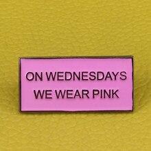 Mean Girls Auf Mittwochs Wir Tragen Rosa Revers Film brautjungfer Geschenk Emaille pin