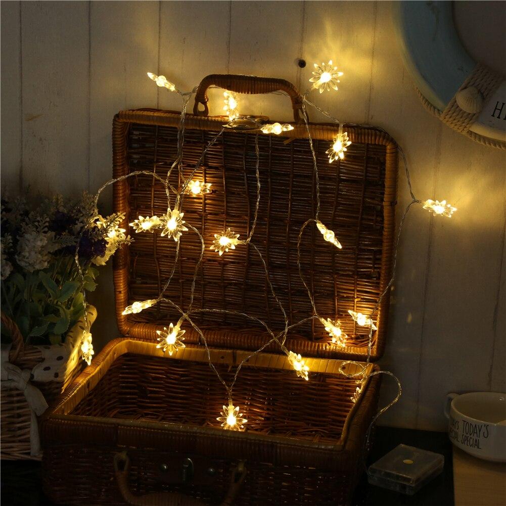 Fairy LightsFlower String Light 1.5M-10M,10L/20L/40L/96L,3AA/31V US/EU Room Weding Party Wall Window Home Decora Novelty Children Night Lamp