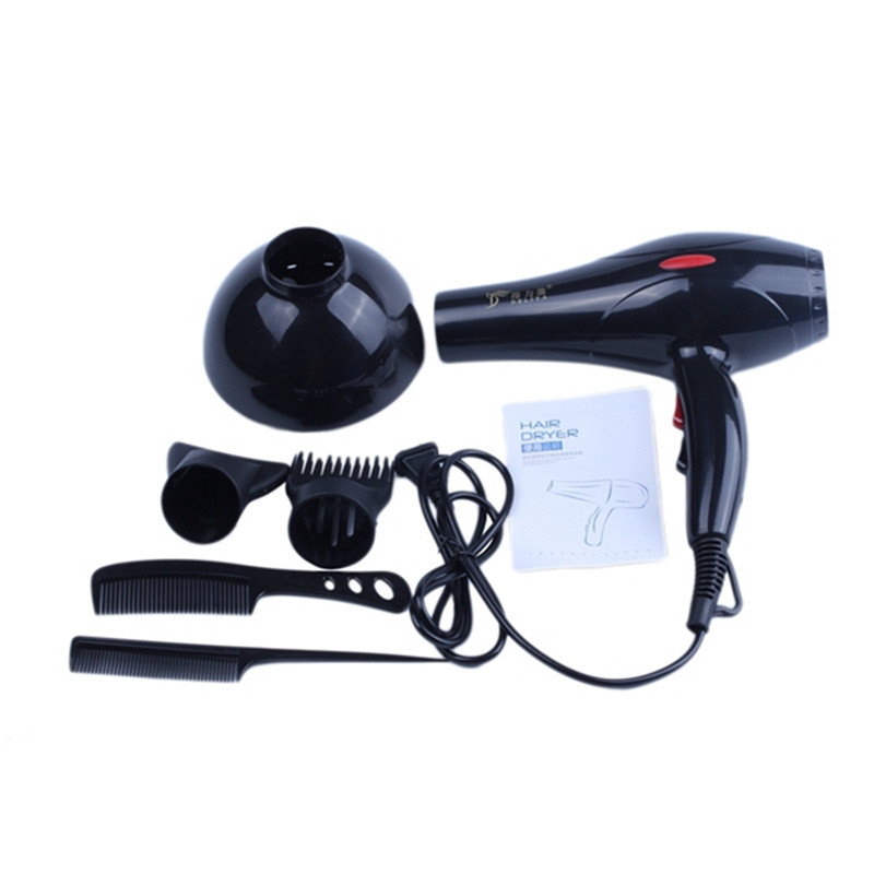 Hot Sale 6-piece Hair Dryer 2200W Household Hair Dryer Diffuser/Comb Salon US Plug