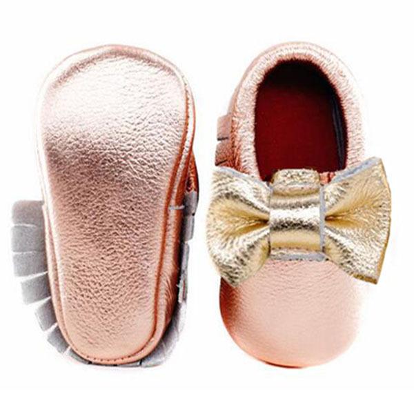 Nueva Bowknot Zapatos de Bebé de cuero genuino Borla Hecha A Mano de los Bebés Primeros Caminante Zapatos de bebé mocasines de Moda combinar