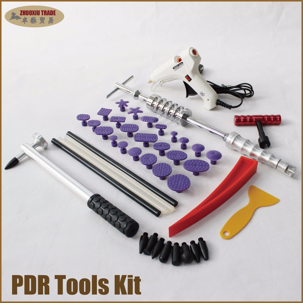 paintless dent repair pdr tools aluminum tap down hammer pdr slide hammer pdr glue tabs wedge t-bar puller car dent fix auto цена