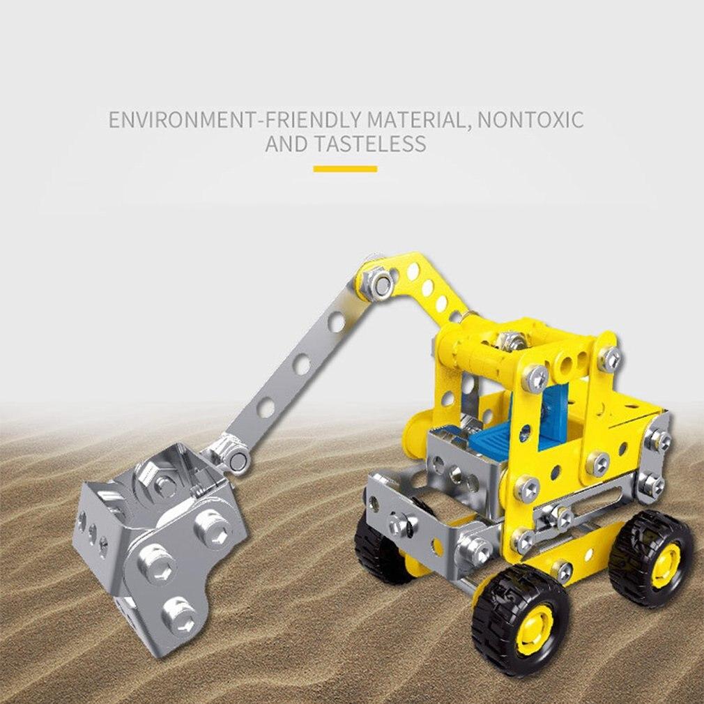 Neue Verkauf Sieben-in-one metall engineering auto serie montage bausteine spielzeug kinder puzzle demontage legierung modell
