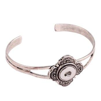 SMB18-77 High quality bracelet snaps bracelets pour snap button fit 18-20mm Interchangeable ginger snaps bracelet bangels