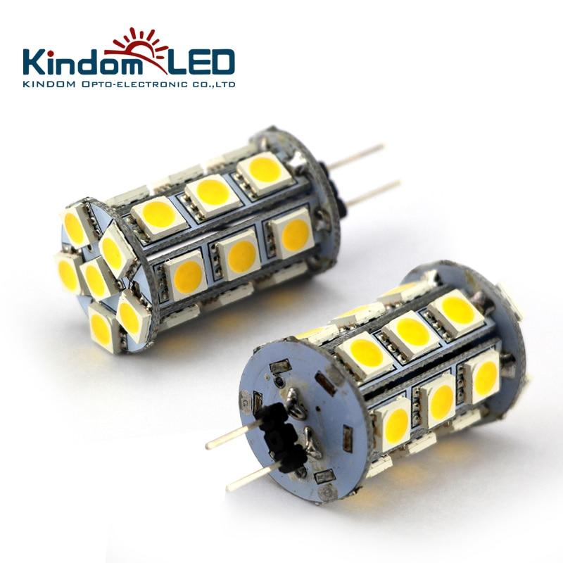 Kindomled 10 шт./лот LED G4 лампа/свет/Лампы для мотоциклов 12 В DC SMD5050 3.5 Вт 6 Вт холодный белый морской лодки телеги Офис Дисплей случае