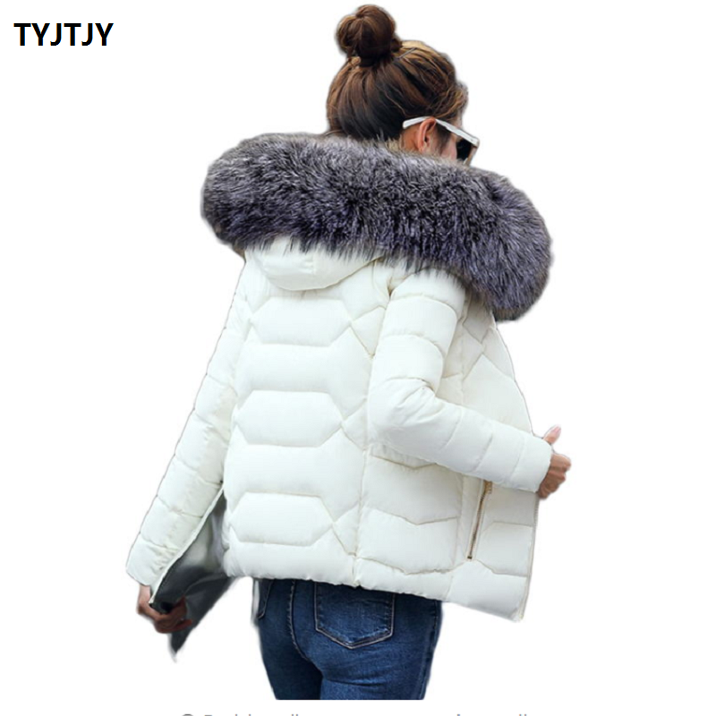 Jackets woman winter coat 2018 fashion short paragraph feminine coat Korean dress warm wool collar thick warm winter jacket wome