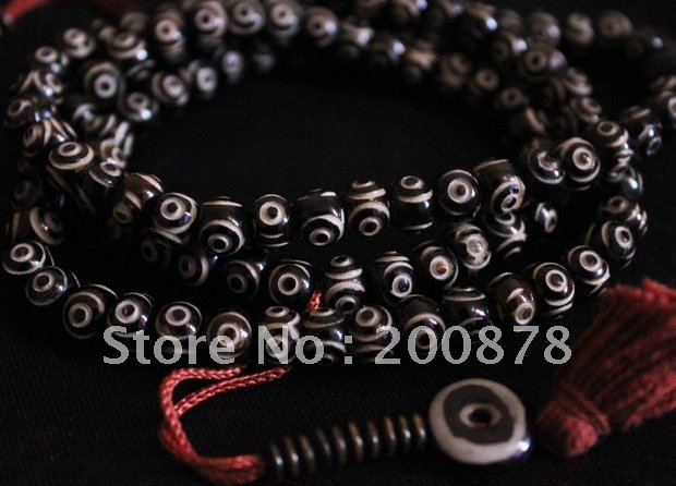 BRO840  Tibetan 108 beads yak bone Rosary,8mm,carved Wisdom Eye Prayer beads Mala,Best offerBRO840  Tibetan 108 beads yak bone Rosary,8mm,carved Wisdom Eye Prayer beads Mala,Best offer