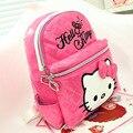 Hello Kitty Escuela de Los Niños Bolsas de Cuero de LA PU Impermeable Lindo Bolsa de Hombro Bolsas de Viaje Para Niños Niñas Mochila Escolar Mochila