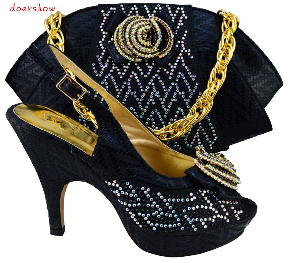 doershow top quality Italian ladies shoes and matching bag set free shipping !HQJ1-11doershow top quality Italian ladies shoes and matching bag set free shipping !HQJ1-11