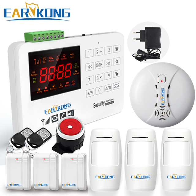 Best Offers 433MHz home security gsm alarm system Capacitive touch keyboard waterproof keypad alarms color screen display than G2B ZC-GSM015