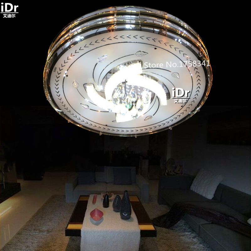 Creative Personality Round Led Crystal Lamp Living Room Bedroom Factory Low Voltage Ceiling Lights