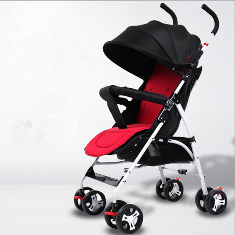 Lightweight Baby Strollers Folding Portable Baby Pushchair Baby Carriage Trolley Kinderwagen Multifunction Stroller Carrier Cart