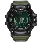 2018 Men Watch Smart Watch Men Sports Watches Army Green Style Bluetooth Link Smart Watches Men Digital Sport Male Clock 1617B