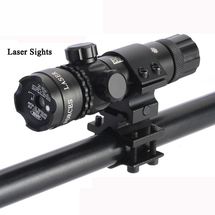 Professional Outdoor waterproof green and red laser aiming riflescope with tactical tail switch hot selling free shipping ...