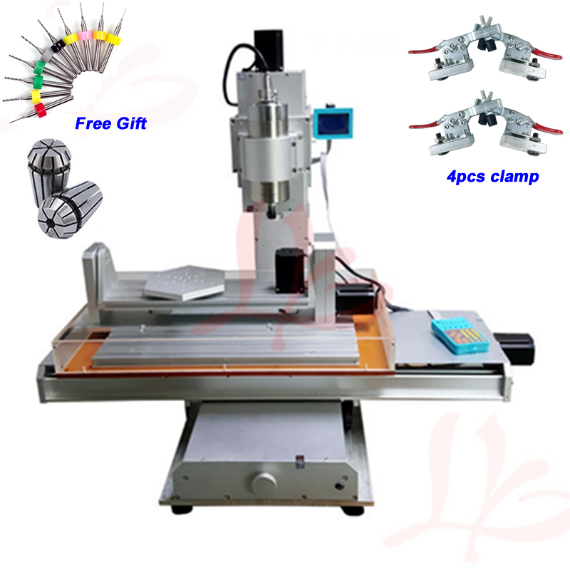 цена 1500W 2200W Spindle 5 Axis CNC Router 3040 Engraving Machine Ball Screw Table Column Type Woodworking Milling Machine онлайн в 2017 году