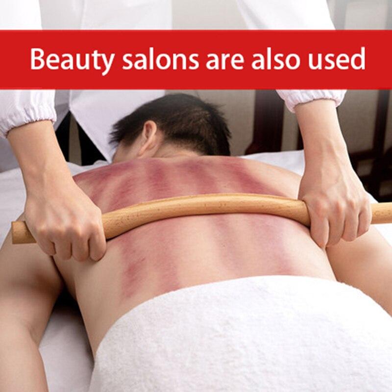 1 conjunto 4 pçs guasha raspagem vara para trás ombro pescoço cintura perna massagem ferramentas feitas de madeira natural rápido grande área gua sha
