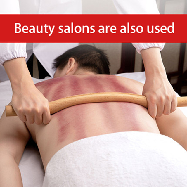 4 Pcs Natural Wood Gouache Massage Scraper Stick Fat Burner Back Shoulder Neck Waist Leg Cellulite Massage Tool slimming massage 1