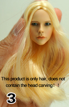 Solr Beauty 1 6 Engraved Head Hair Hairstyles Action Figure Hot Toys 12
