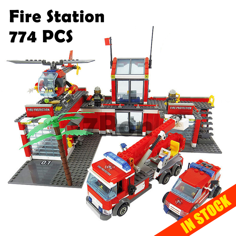 8051 Model Building Toys hobbies Fire Station Compatible with Lego Blocks City Bricks ABS Plastic Educational For Children 367pcs insect building blocks abs plastic compatible model kit bricks diy educational toy for children kid animals gift