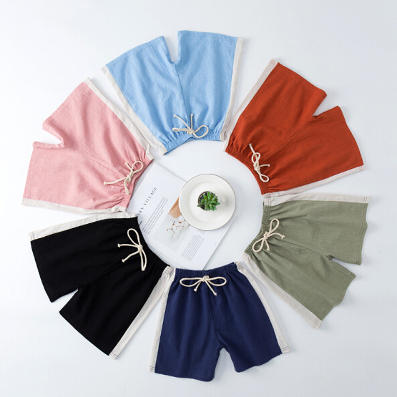New Children 39 S Cotton Five Point Hot Pants Boys Girls Wild Solid Color Shorts Spring And Summer Cotton Linen Shorts Comfort Hot in Shorts from Mother amp Kids