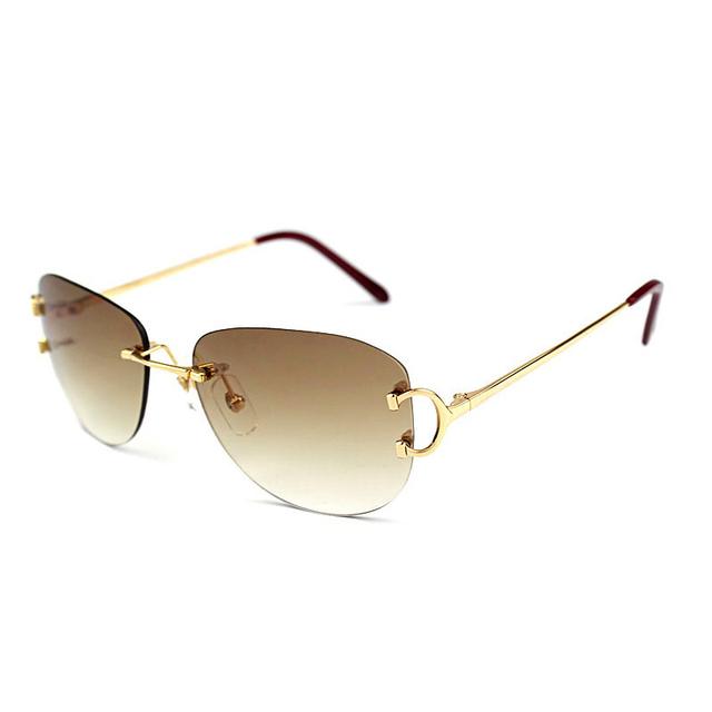 Rimless Sunglasses Men Oval Sun Glasses Women Carter Gafas Oculos De ...