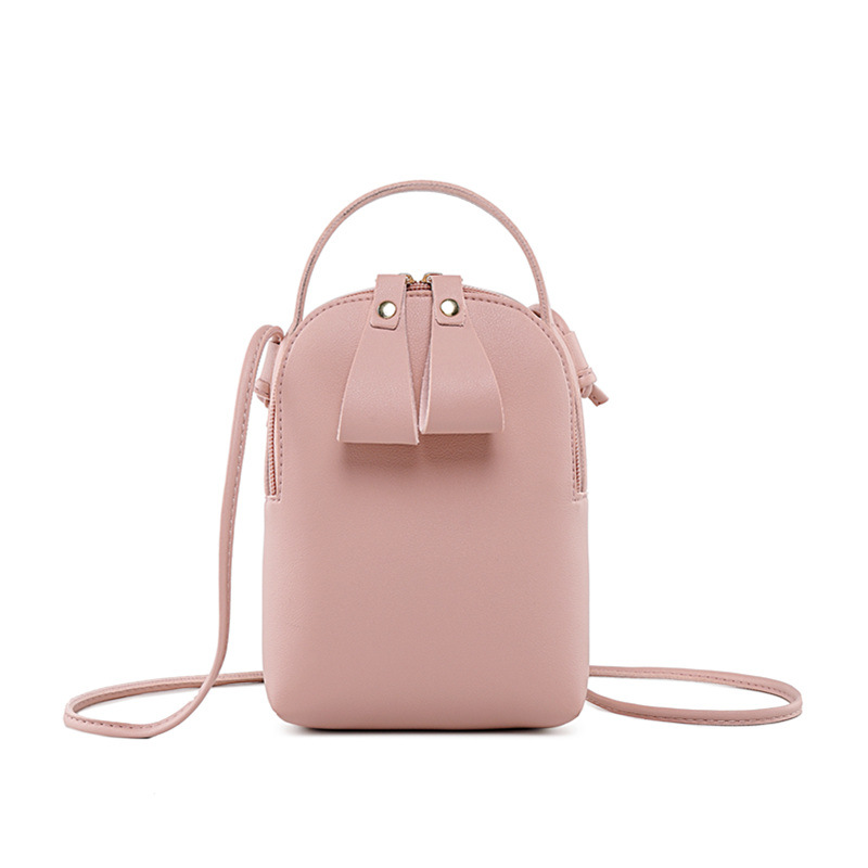 Fashion For Women Solid PU Lether zipper Shoulder Bag Casual Crossbody Bag Messenger Phone Coin Bag Small korean Style V1-01