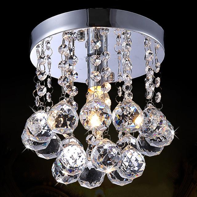 Crystal Pendant Light Modern Mini Lighting Fixture For Living Room Decor Free