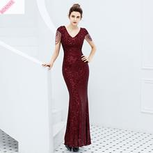 2019 Vestido De Festa Dress Elegant Long With New Noble Banquet Temperament Airfield For Queen Fishtail Withe Slim Sexy BOXINKE