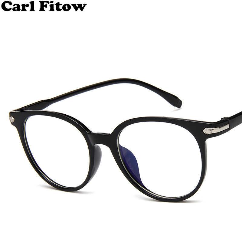 19ca2a8991 2019 Fashion Women Glasses Frame Men Eyeglasses Frame Vintage Round Clear  Lens Glasses Optical Spectacle Frame