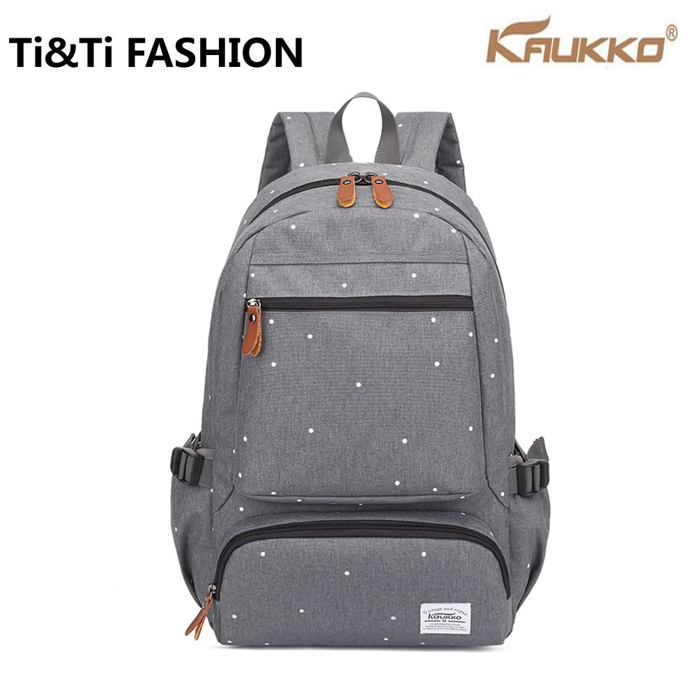 ФОТО New Original KAUKKO Canvas Backpack Fashion Student backpack Travel Business Package computer bag Neutral style