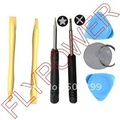 For ipod iphone 4 4g 4s and 5 7 in 1 Opening Tools Set by free shipping: 10pcs per lot