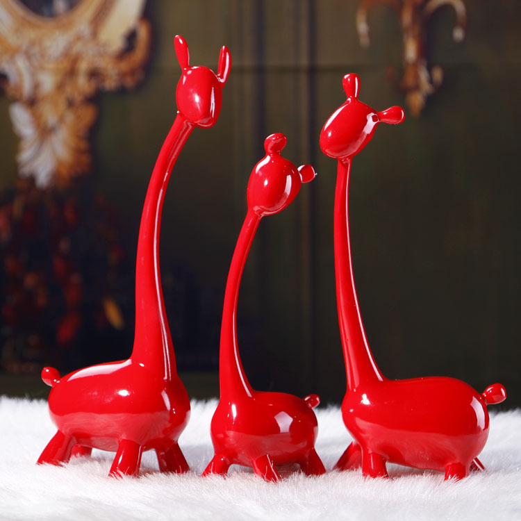 Resin process household act the role ofing is tasted, the fawn a wedding furnishing articles, creative gifts wholesale FA240