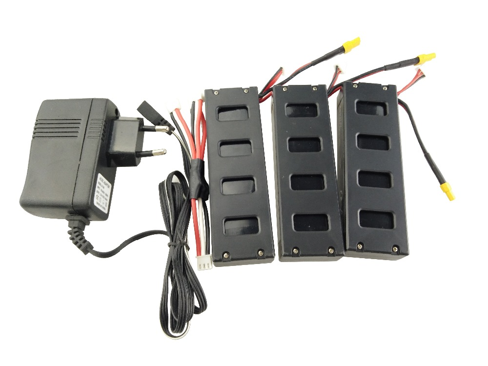 3PCS battery and European regulation charger with 1 cable 3 line for MJX B3 helicopter 7.4V 1800mah 25C aircraft parts 3pcs 3 7v 900mah li po battery 3 in 1 black us regulation charger and charging cable for rc xs809 xs809hc xs809hw drone