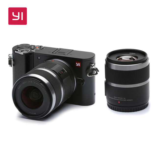 YI M1 Mirrorless Digital Camera With YI 42.5mm F1.8 Lens