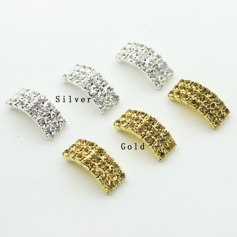 2017 Real Direct Selling 10pcs/lot Factory Outets Metal 20mm*9mm*6mm Diamond Buckle Arching Wedding Diy Hair Accessory