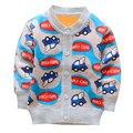 2016 Otoño Nueva Llegada Suéter de Cachemira chaqueta de Punto de Lana Niños Niñas Unisex Niños Suéteres de Dibujos Animados Lindo Bebé Suéter Cardigan