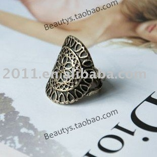 Fashion Rings Beautiful Antique Silver/crystal rings, flower ring ,new fashion jewellery