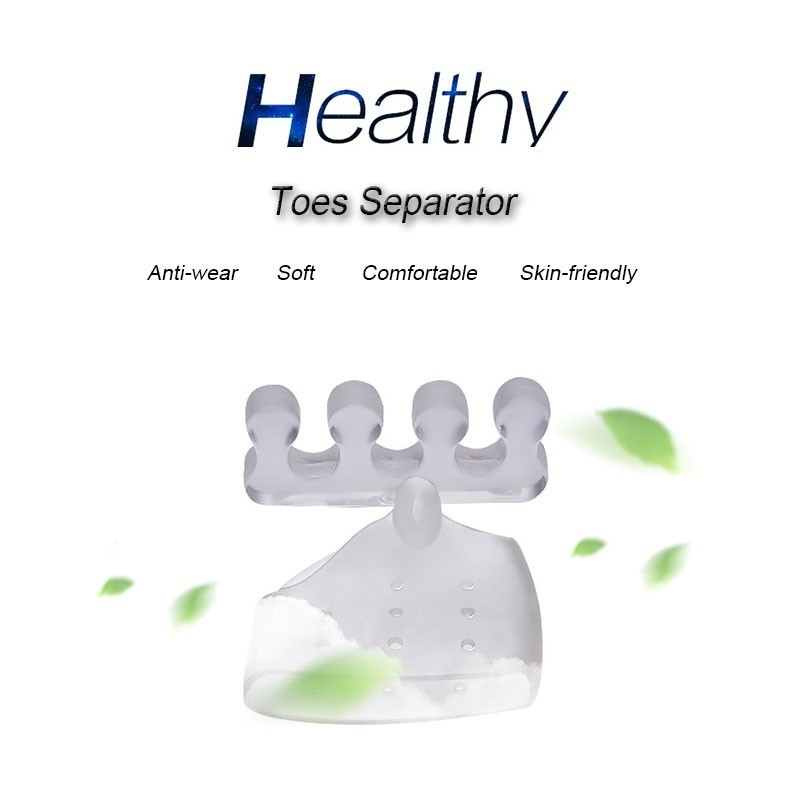 4PCS Reusable Silicone Gel Toe Separator Toe Corrector for Women Hallux Valgus Straighter Feet Care Bunion Stretcher T0480SHD 2