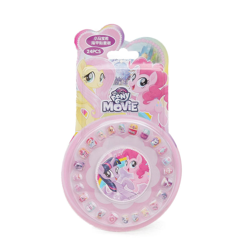 Image 3 - New My Little Pony Toys PVC Pony Stickers Pack Children Girl Nail Stickers Removable 3D Rainbow Dash Twilight Sparkle Pinkie Pie-in Action & Toy Figures from Toys & Hobbies