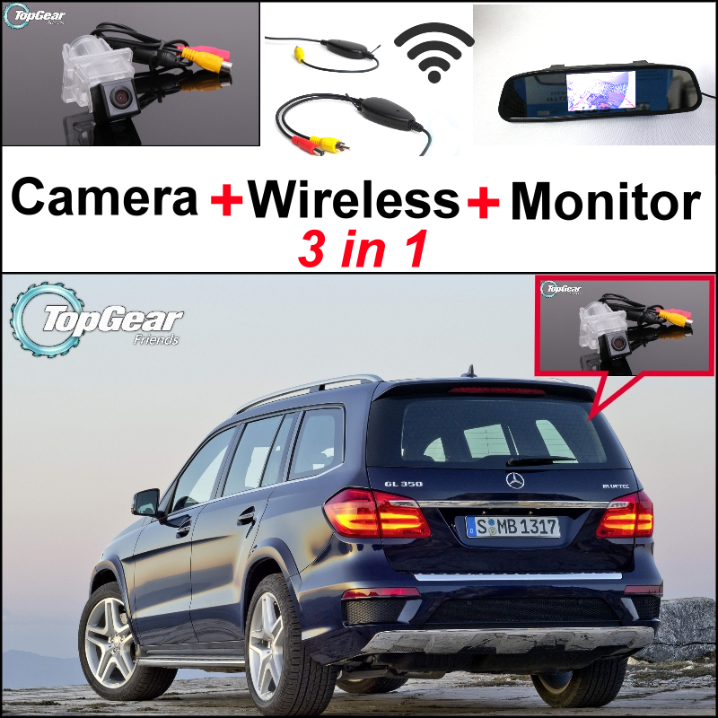 For Mercedes Benz GL Class MB X166 3in1 Special WiFi Back Up Camera + Wireless Receiver + Mirror Screen Parking Rear View System liislee 3in1 special camera wireless receiver mirror screen diy rear view parking system for mercedes benz mb b class w245