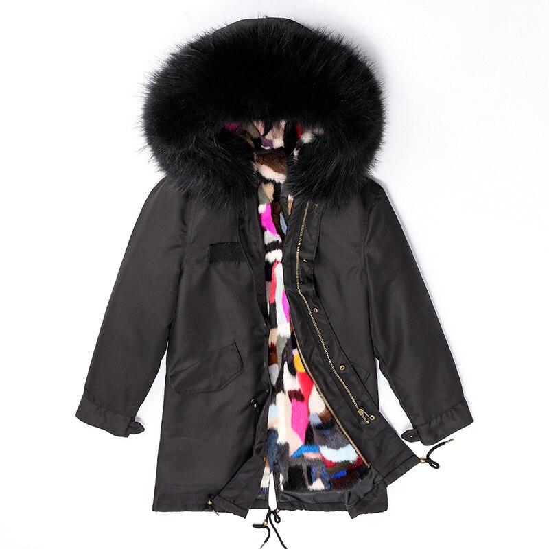 HUYOU décontracté vison fourrure Parka vraie fourrure longue veste 100% naturel raton laveur fourrure manteau hiver épais Parkas pour les femmes grande taille
