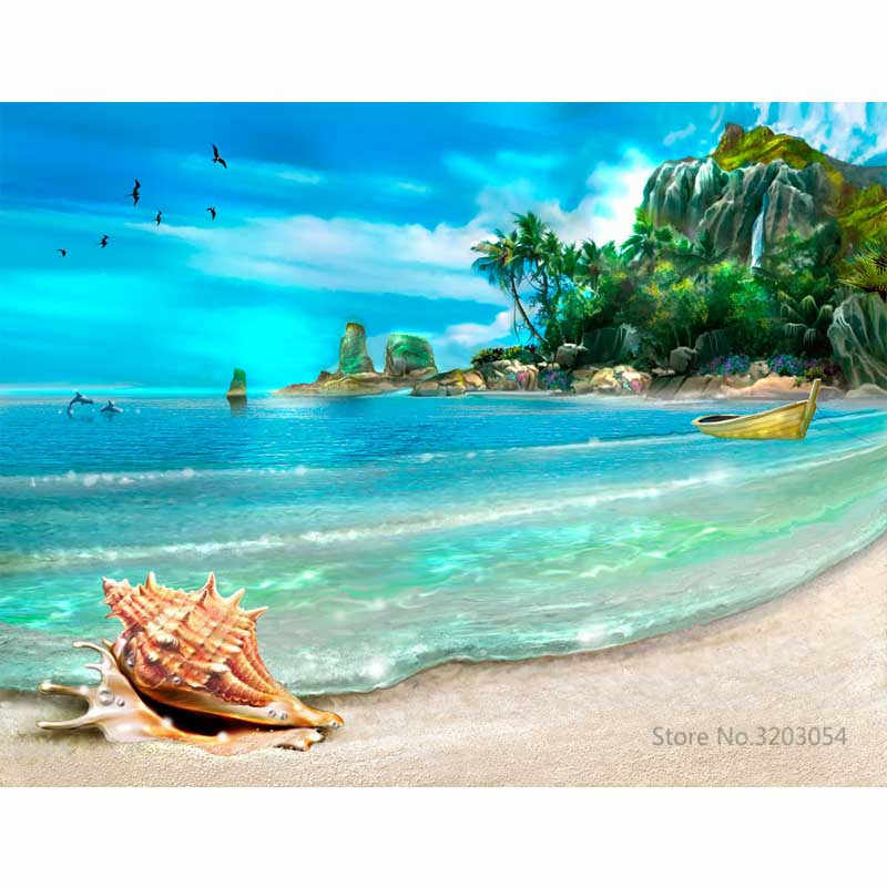 CHUNXIA Framed DIY Painting By Numbers Seascape Acrylic Painting Modern Picture Home Decor For Living Room 40x50cm RA3264