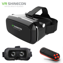 VR Shinecon VR Glasses Virtual Reality VR 3D Glasses 3D Cardboard Virtual Reality VR Glasses Box for 4-6′ Mobile Smart Phone