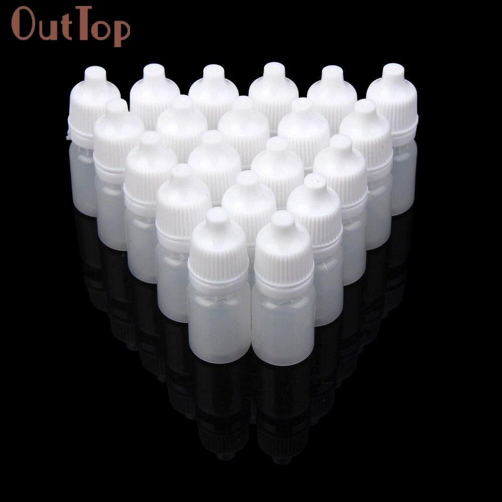 2017 Hot 50PCS  Empty Plastic Squeezable Dropper Bottles Eye Liquid Dropper Refillable Bottles Mar24 mymei 50ml empty plastic dropper bottles eye dropper liquid learning games