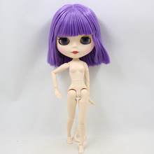 ICY Neo Blythe Doll Short Purple Hair Jointed Body 30cm
